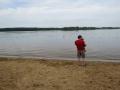 With Benjamin at Buttercup Beach